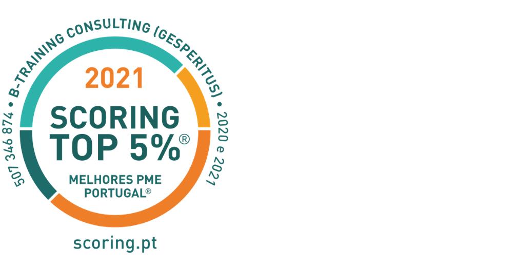 A B-Training está no TOP 5% das melhores PME de Portugal em 2021